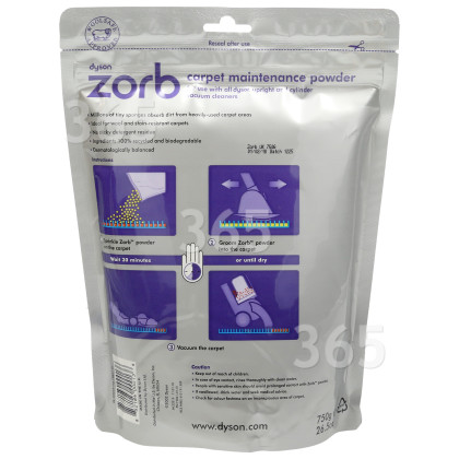 Dyson Zorb Carpet Cleaning Powder 750g Spares Parts