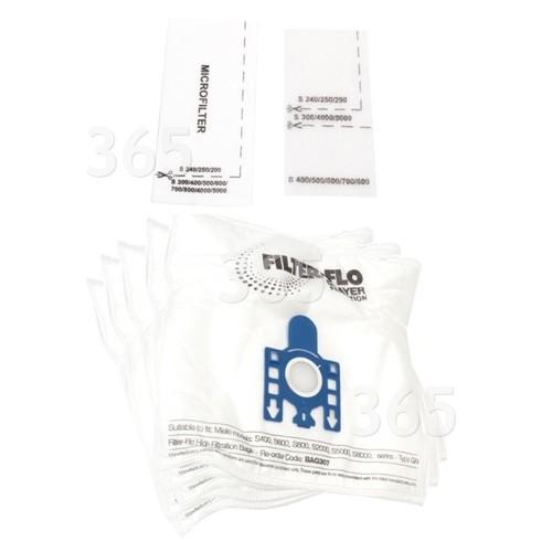 G/N Sacs Aspirateur -Synthétiques Filtre-Flo BAG307 (Paquet De 5)