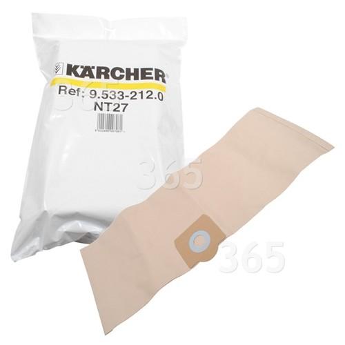 Karcher Staubsauger-Papierfilterbeutel (10er Packung)