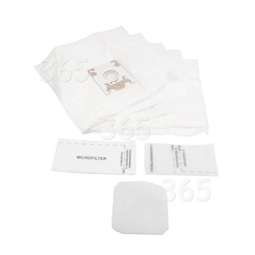 G/N Filter-Flo Synthetische Staubsaugerbeutel (5er Pack Mit 1 Filterkit)