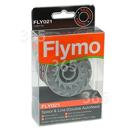 Bobina E Hilo De Autoalimentación Doble FLY021 Para Desbrozadora Flymo