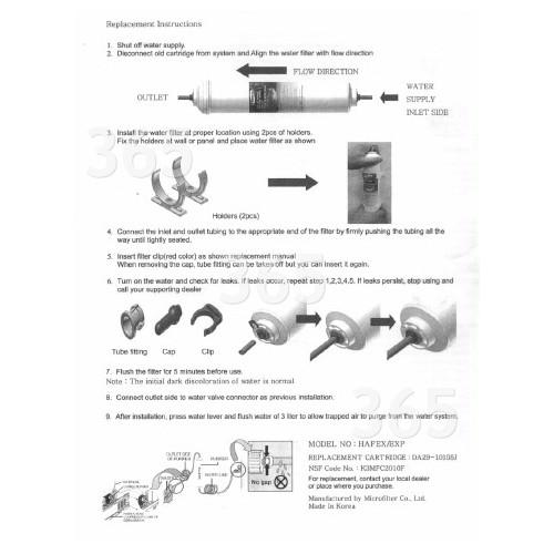 Cartouche Filtre À Eau Externe De Réfrigérateur Hafex/Exp Samsung