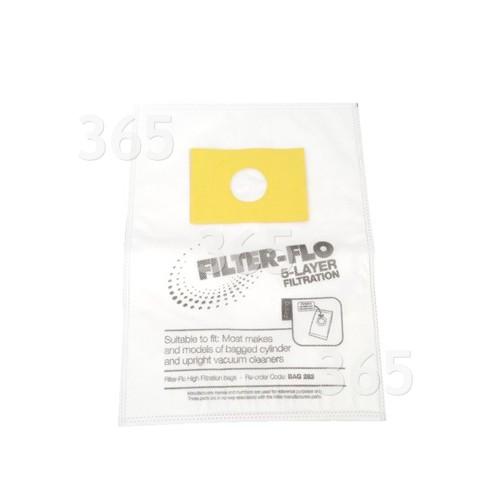 Goblin Universal Filter-Flo Boden-/Handstaubsauger-Adapterbeutel (5er Packung)