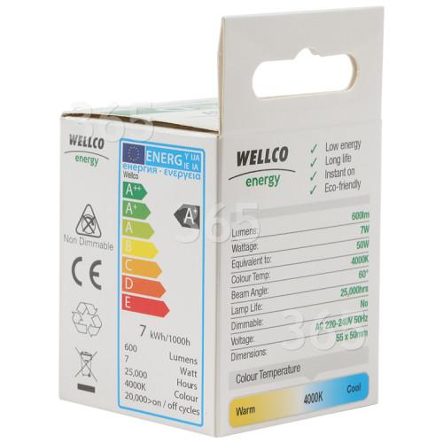 Ampoule LED GU10 7W Wellco