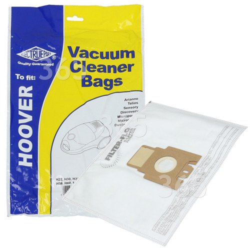 H30 / H52 / H56 / H60 / H61 Filter-Flo Synthetic Dust Bags (Pack Of 5) - BAG360