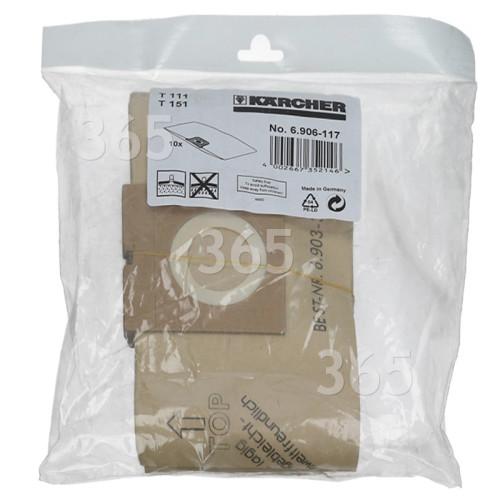 Karcher Staubsaugerbeutel (10er Pack) 6.906-117.0