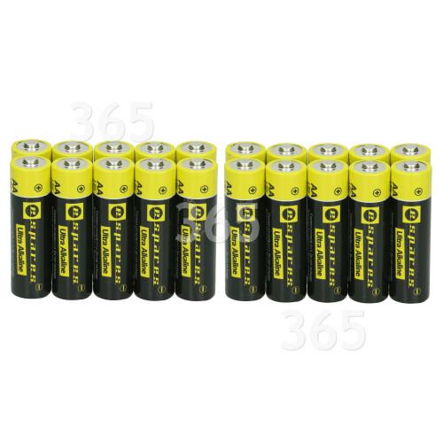 EErsatzteile Ultra Alkalinebatterien AA LR6 - 20er Pack