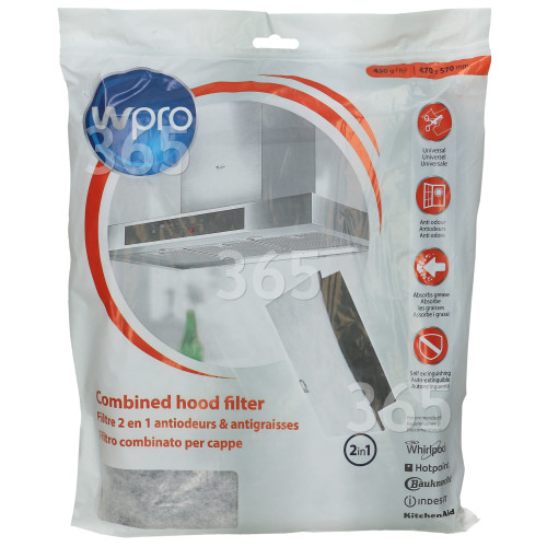 Filtro Carbone Universale FHC009 2-in-1 (470 X 570mm) Whirlpool