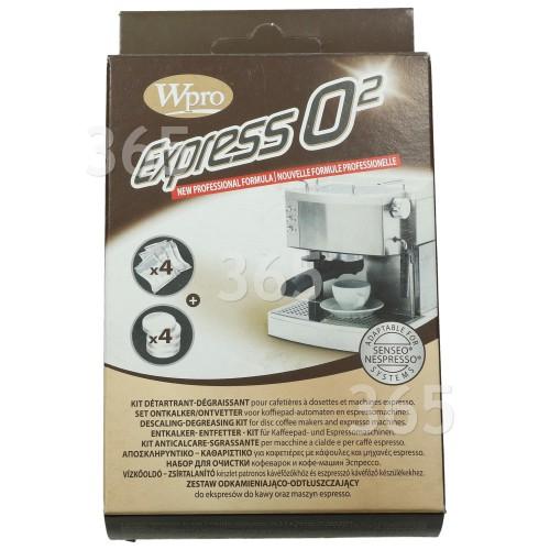 Wpro Entkalker- & Entfetter-Kit Für Kaffee- & Espressomaschinen