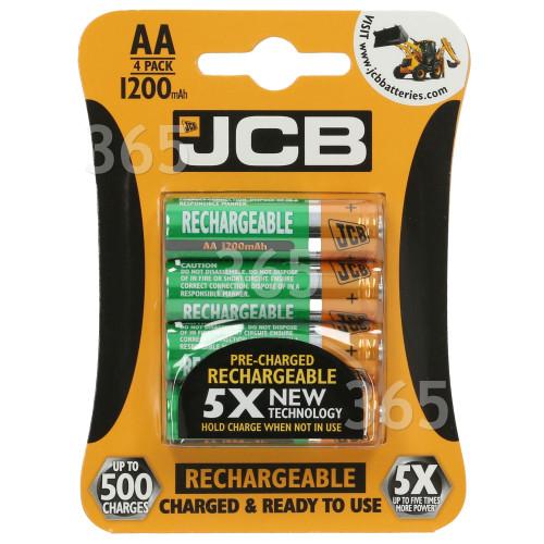 JCB AA NiMH Wiederaufladbare Batterien
