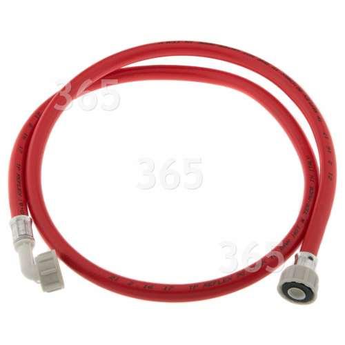 Care+Protect Universal Warmwasser-Einlaufschlauch (rot) - 1,5m - Gerade / Abgewinkelt