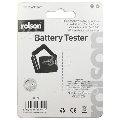 Rolson Universal Batterietester