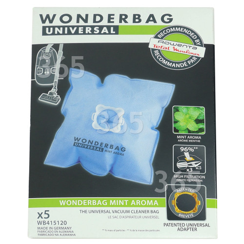 Vacuum Bags to fit Moulinex Compact 5 Pack