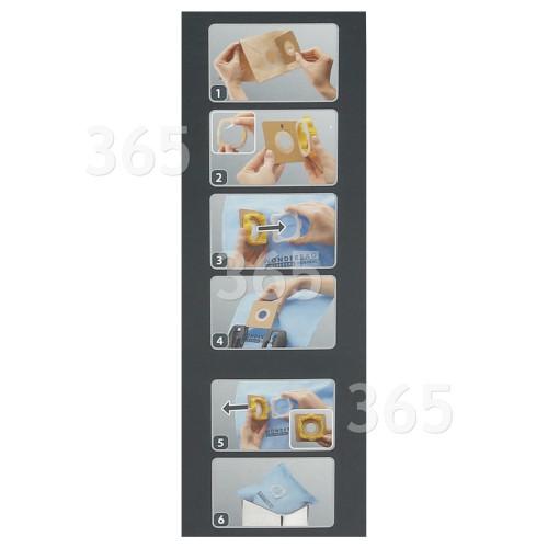 paquete de 5 Aspiradora DE CILINDRO UNIVERSAL bolsas se adapta a la mayoría de los modelos de cilindro