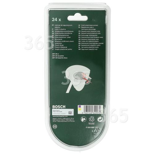 Bosch Qualcast Atco Suffolk Rasentrimmer-Kunststoffmesser (24 Stück) : ART26LI ART26ACCUTRIM ART26EASYTRIM