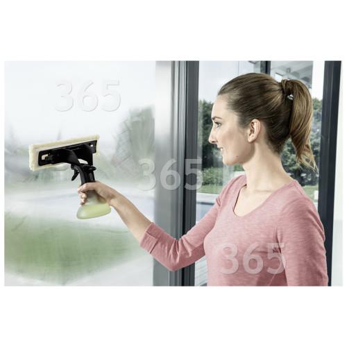 Karcher Premium Fenstersauger-Sprühflaschen & Mikrofaserpad Set