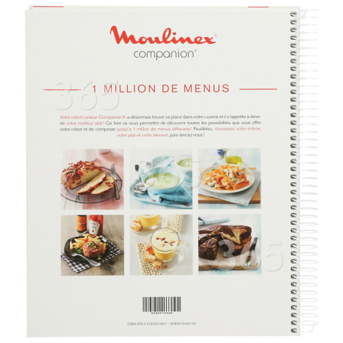 Moulinex Recipes Book Fr Robot Cuis Comp Spares Parts