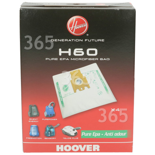 Hoover H60 PureHepa Dust Bag (Pack Of 4)