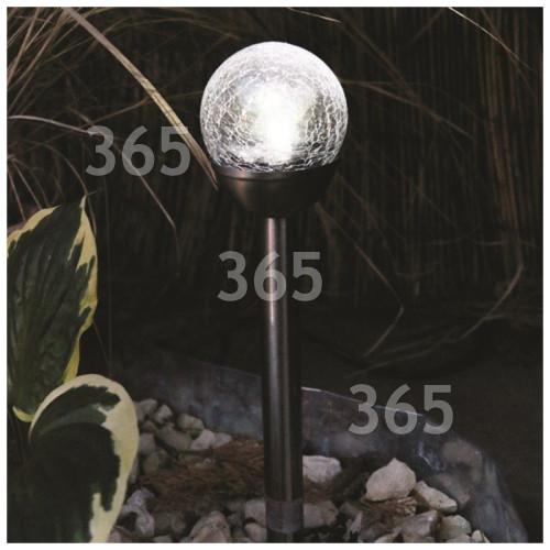 Kingfisher 6cm Solar Glass Ball Light
