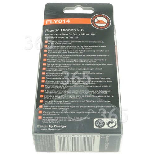 Cuchillas Plásticas De Cortacésped - FLY014 - Pack De 6 Flymo