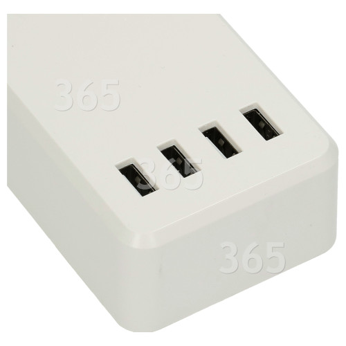 Rallonge De Câble Smart Wifi 4 Prises - Prise Anglaise - TCP
