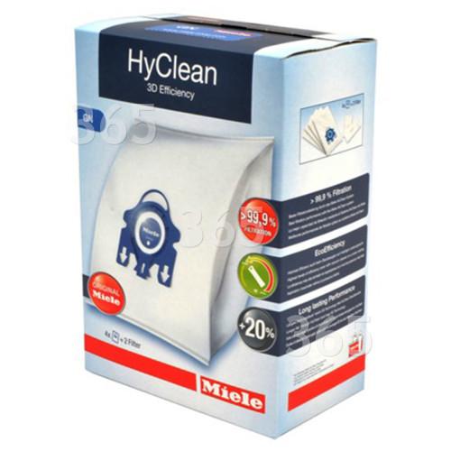 Kit Sacs Aspirateur Et Filtre Gn Hyclean 3D Efficiency - Boîte De 4 Sacs Miele