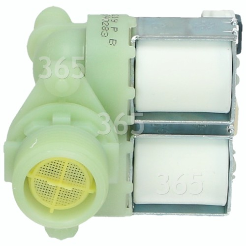 Hoover Cold Water Double Solenoid Inlet Valve : 180Deg. With Protected (push) Connectors