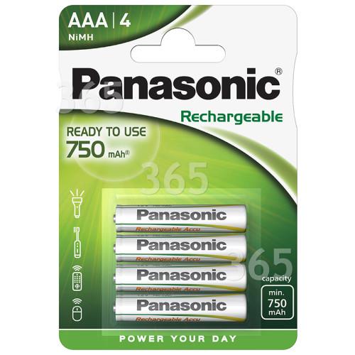 Panasonic Evolta AAA NiMH Wiederaufladbare Batterien (4er Packung)