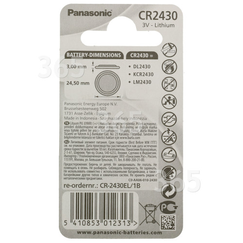 Panasonic CR2430 Knopfzelle