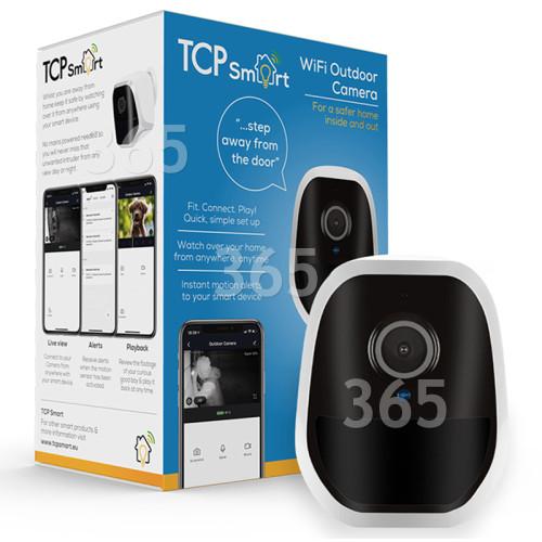 Caméra WiFi Connectée Pour L'extérieur (Prise Anglaise) TCP