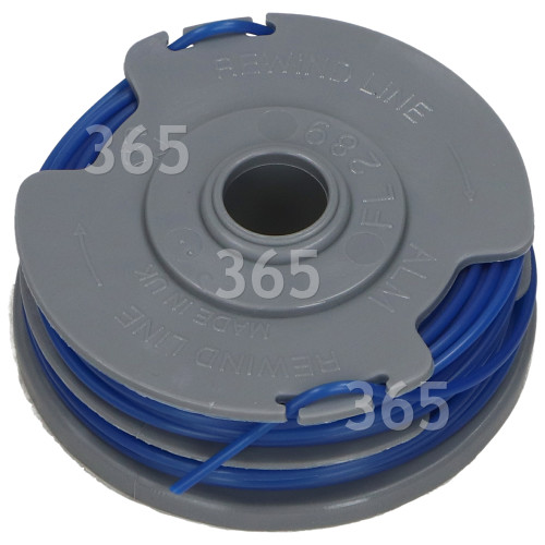 Rasentrimmer-Spule & Faden (Doppelfaden) 65mm (021) : Für Flymo Doppelfaden-Modelle