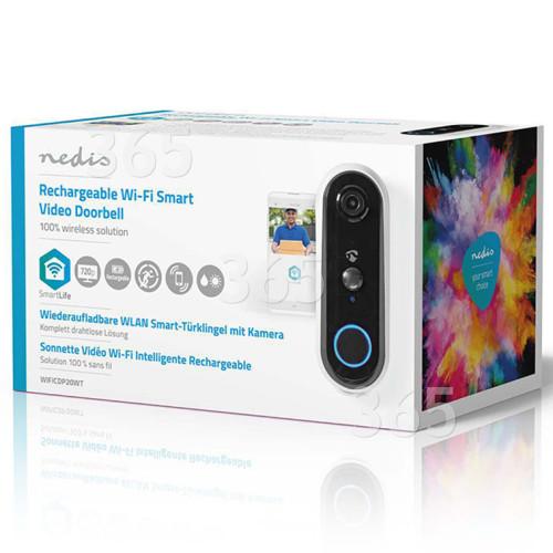 Nedis SmartLife 720p Aufladbare Video-Türsprechanlage - Grau
