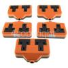 Wellco Bulk 13A Rubberised Orange Twin Trailing Socket