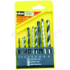Rolson 9 Piece Combination Drill Bit Set