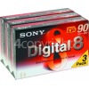 Sony Digital-8 Camcorder Tape Pack (Pack Of 3)