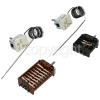 Stoves Ego Thermostat Kit. Function Selector Switch : 42.02400.008 And Thermostat : 55.17069.090