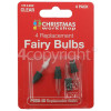 The Christmas Workshop Clear Fairy Light Lamps - Pack Of 4