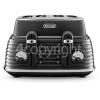 Delonghi Scolpito 4 Slice Toaster - Black