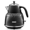 Delonghi Scolpito Cordless Jug Kettle - Black