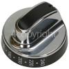 Belling Main Oven Control Knob - Black / Chrome
