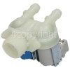 Indesit Cold Water Double Inlet Solenoid Valve : 180Deg. With Protected Tag Fitting