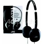 Genuine JVC HAS160 Flats Lightweight Headband Headphones - Black