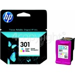 Genuine Hewlett Packard Genuine No.301 Tri-Colour Ink Cartridge (CH562EE)