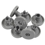 4ourhouse Approved part Lower Dishwasher Basket Wheel (Pack Of 8)