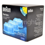Genuine Braun Clean & Renew Refill Cartridges CCR3 Pack Of 3 - Lemon