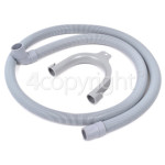 4ourhouse Approved part Universal Drain Hose 1. 5M (Straight To Right Angle End) - For 21/22MM Outlets