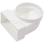 4ourhouse Approved part Female Elbow Bend Ducting: 90 Deg - 110mm X 54mm
