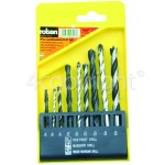 Genuine Rolson 9 Piece Combination Drill Bit Set