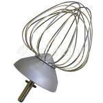Genuine Kenwood Chef Aluminium 9 Wire Balloon Whisk - New Circlip Shaft
