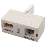4ourhouse Approved part ADSL Broadband Plug-In Filter